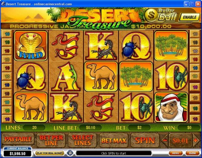 No Deposit Casino Guide image of Desert Treasure