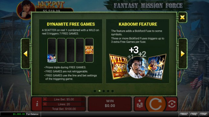 Fantasy Mission Force by No Deposit Casino Guide