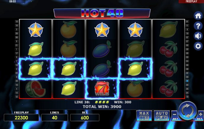 No Deposit Casino Guide image of Hot 40