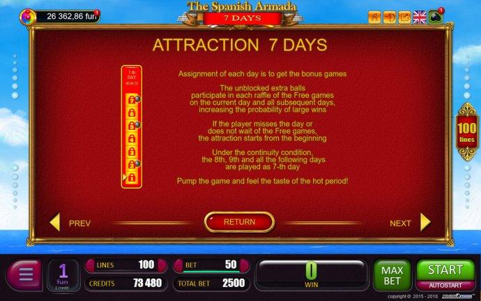 No Deposit Casino Guide image of The Spanish Armada 7 Days