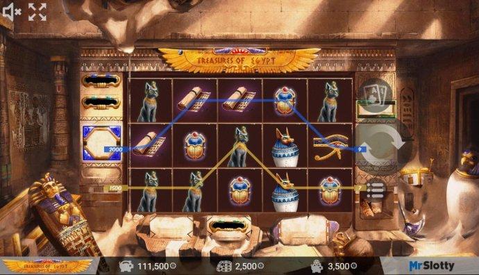 No Deposit Casino Guide image of Treasures of Egypt