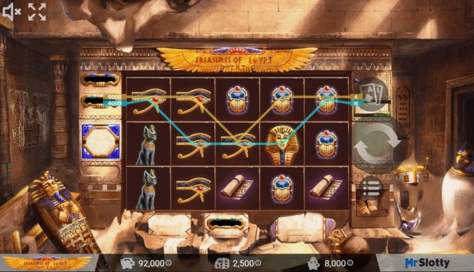 Treasures of Egypt by No Deposit Casino Guide