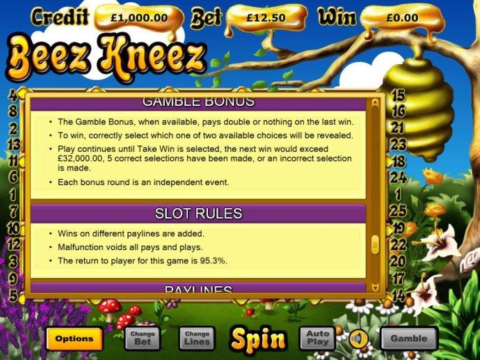 Beez Kneez screenshot