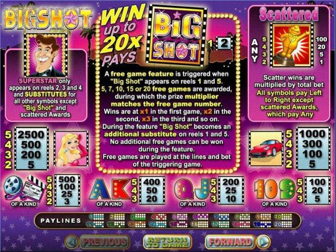 No Deposit Casino Guide image of Big Shot