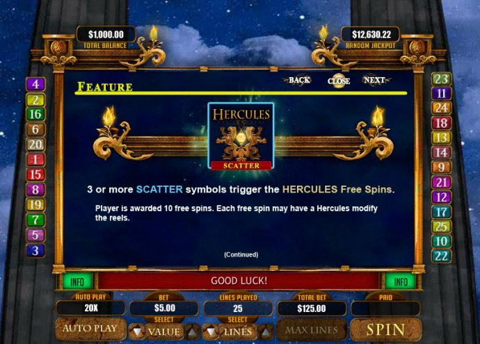 No Deposit Casino Guide image of Hercules the Immortal