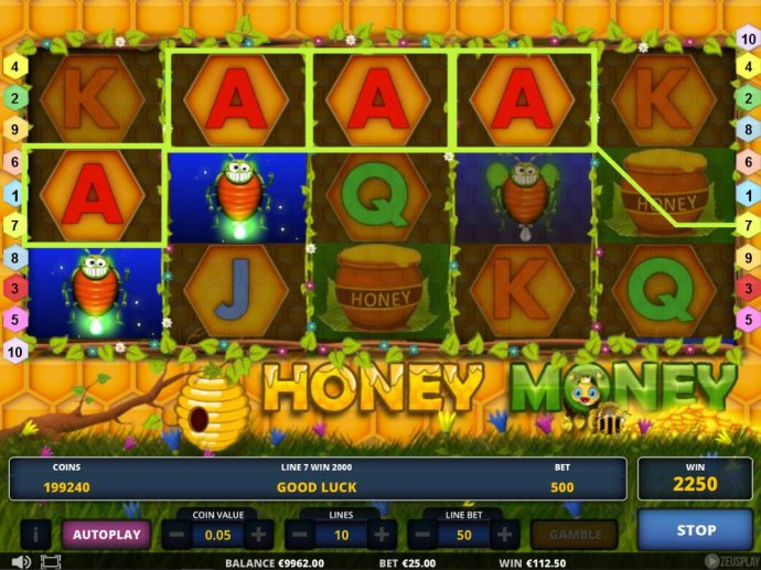 A winning Four of a Kind triggers a 2000 line pay. by No Deposit Casino Guide
