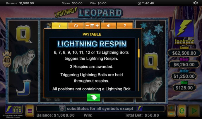 Lightning Respin Rules by No Deposit Casino Guide