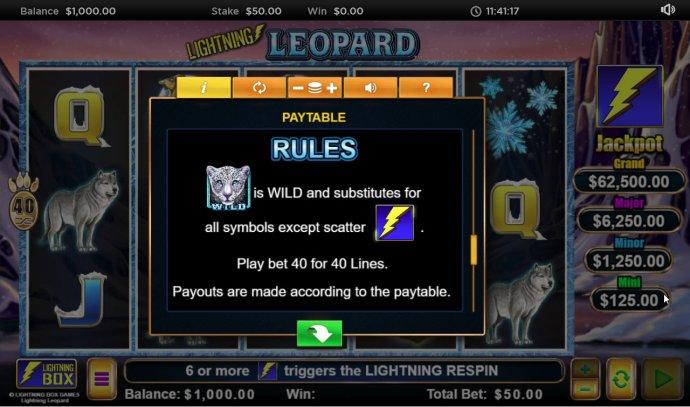 No Deposit Casino Guide image of Lightning Leopard
