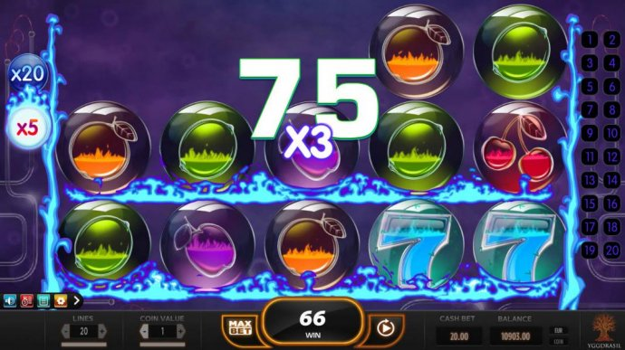 A big win triggered by a x5 and a x3 multiplier by No Deposit Casino Guide