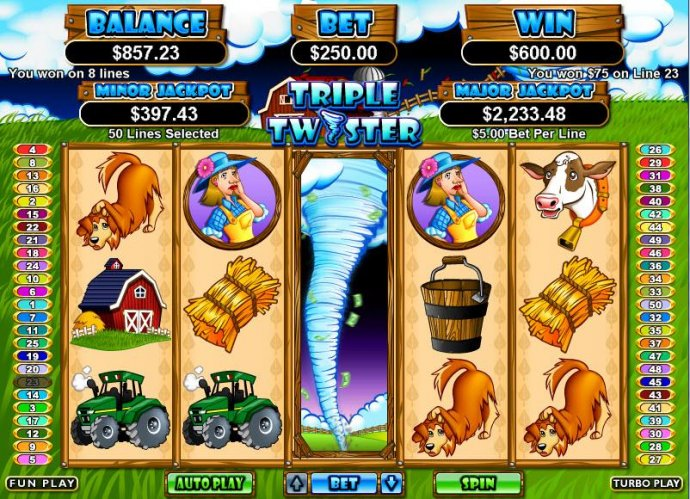 No Deposit Casino Guide image of Triple Twister