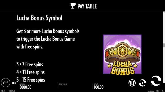 No Deposit Casino Guide - Lucha Bonus Symbol and Rules