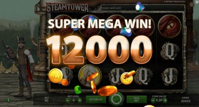 Five Dragon eye symbols triggers a 12,000 coin SUPER MEGA WIN! by No Deposit Casino Guide
