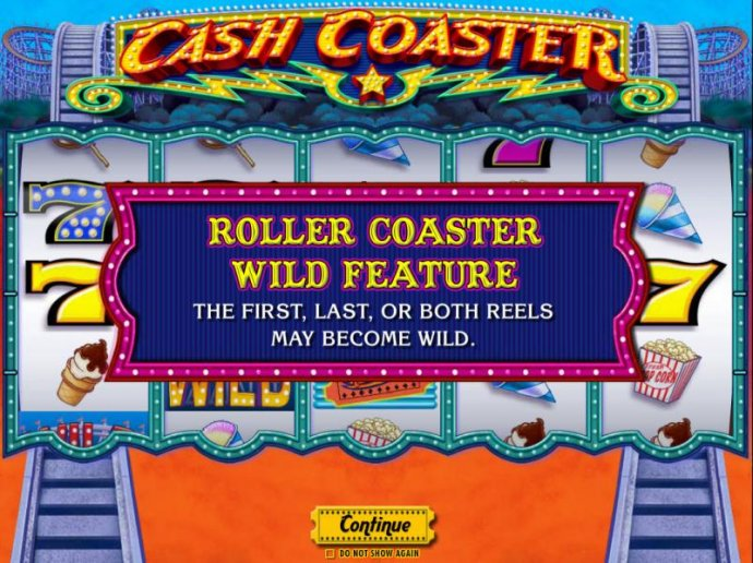 Roller Coaster Wild Feature - The first, last or both reels may become wild. by No Deposit Casino Guide
