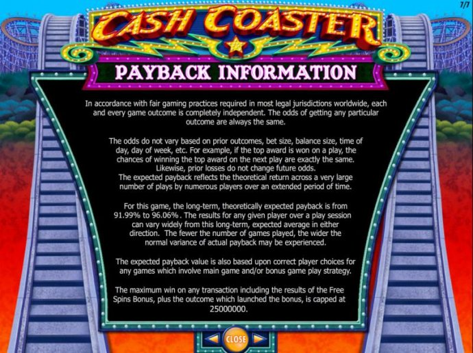 Cash Coaster screenshot