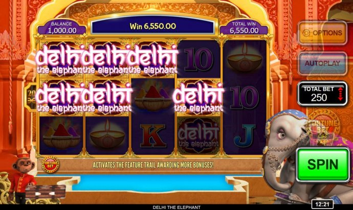 No Deposit Casino Guide - Multiple winning paylines triggers a 6550 coin big win!