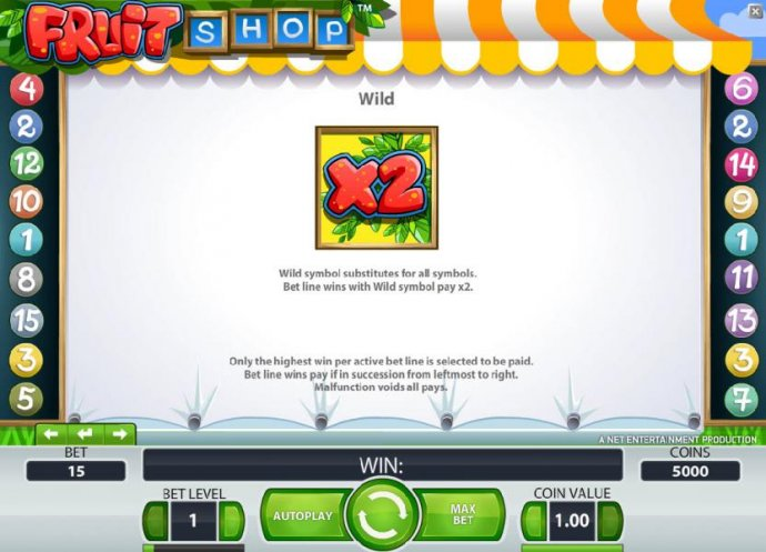 wild symbols game rules - bet line wins with wild symbol pay x2 - No Deposit Casino Guide