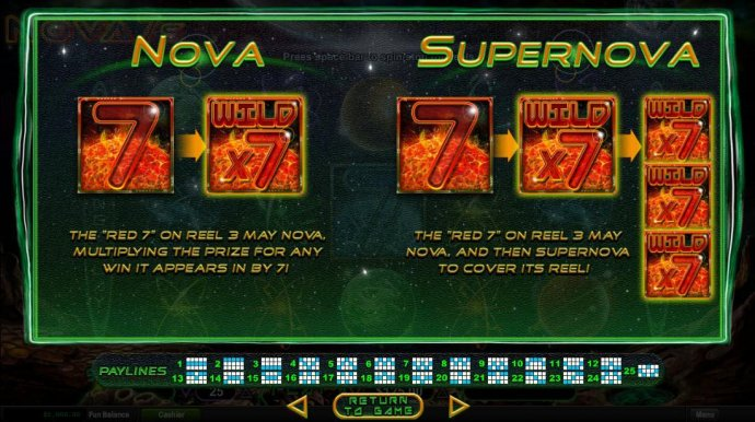 Nove and Supernova Feature Rules by No Deposit Casino Guide