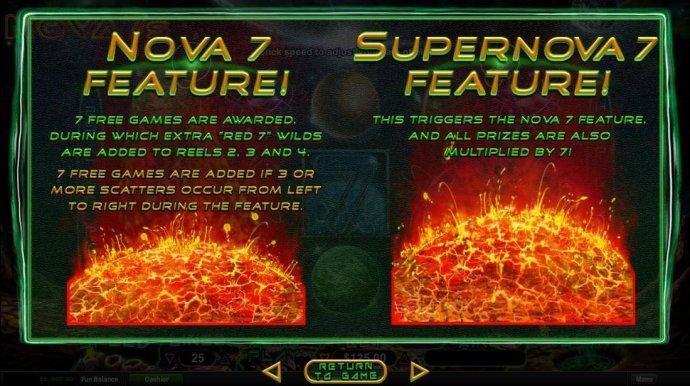 No Deposit Casino Guide - Nova 7 and Supernova 7 Free Games Rules