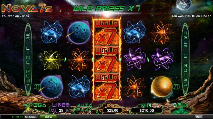 Solarflare stacked wilds with x7 multipliers triggers a big win - No Deposit Casino Guide
