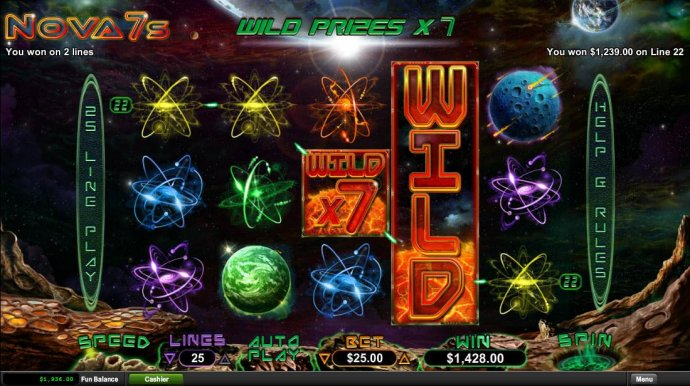 A five of a kind awards a 1,239.00 line pay. - No Deposit Casino Guide