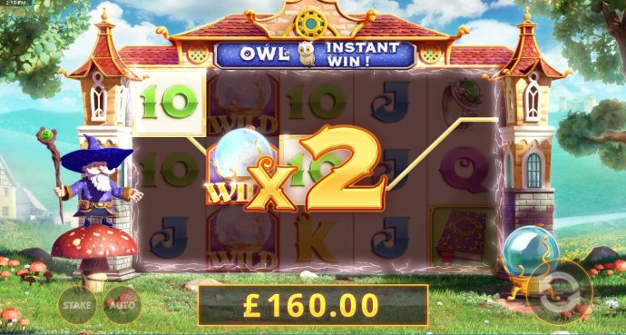 x2 multiplier increasing the payout to 160.00. by No Deposit Casino Guide