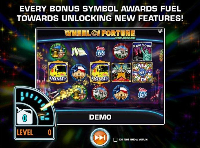 Every bonus symbol awards fuel towards unlocking new features! by No Deposit Casino Guide
