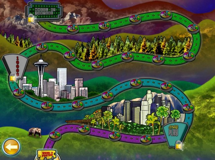 No Deposit Casino Guide image of Wheel of Fortune on Tour