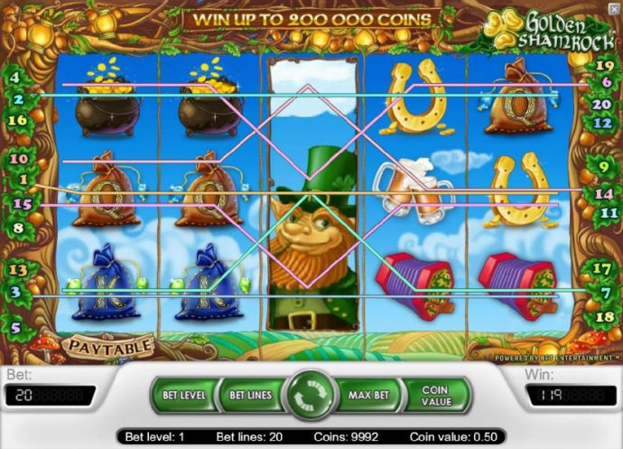 119 coin jackpot triggered by multiple winning paylines - No Deposit Casino Guide
