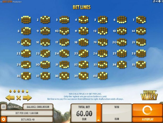 No Deposit Casino Guide image of Hidden Valley