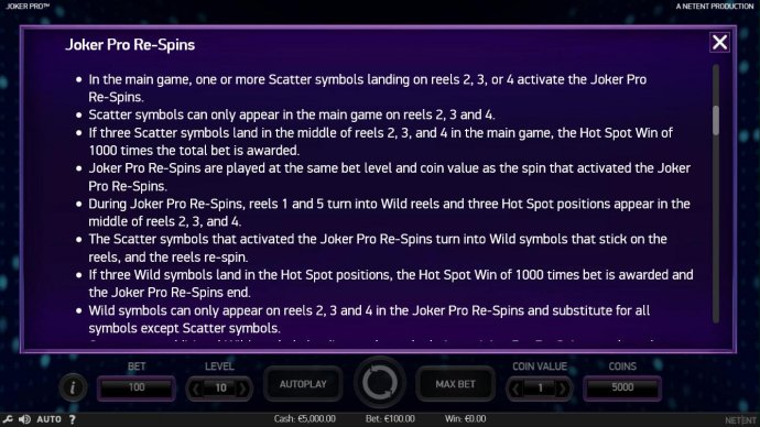 Joker Pro by No Deposit Casino Guide