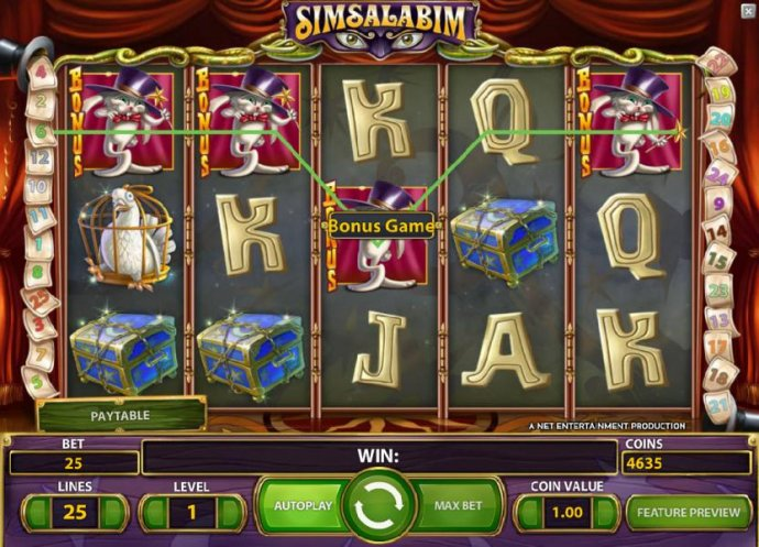 three bonus symbols triggers  the bonus game feature - No Deposit Casino Guide