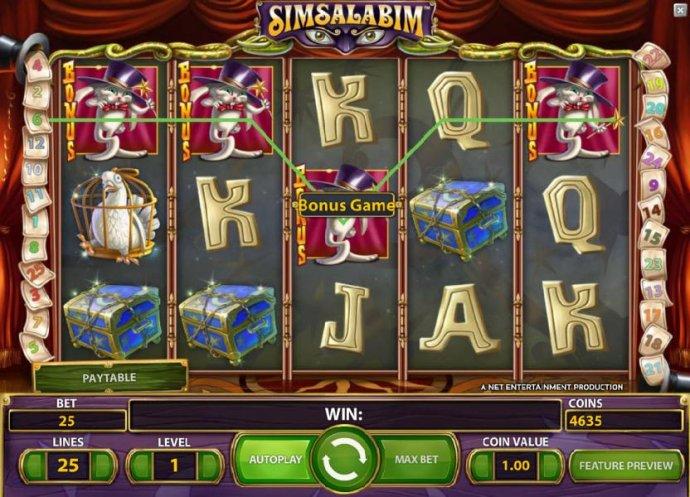 three bonus symbols triggers  the bonus game feature - No Deposit Casino Guide