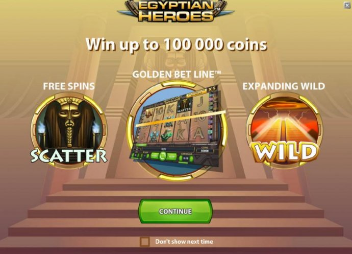 game features - win up to 100000 coins, free spins, golden bet line and expanding wild by No Deposit Casino Guide