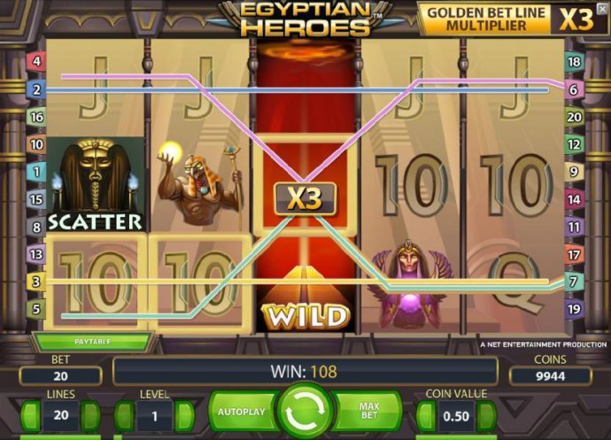 No Deposit Casino Guide image of Egyptian Heroes