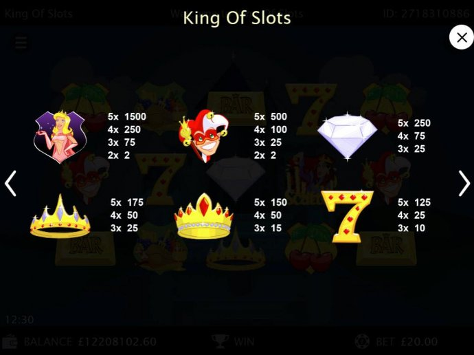 King of Slots by No Deposit Casino Guide