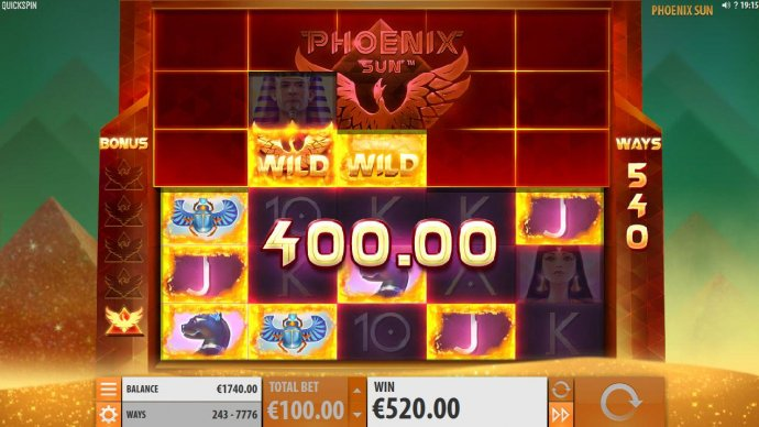 Landing another Phoenix Wild will award another respin and remove three more tiles from above. Exposing more game pieces. - No Deposit Casino Guide