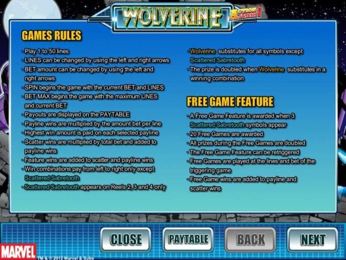 No Deposit Casino Guide image of Wolverine Action Stacks