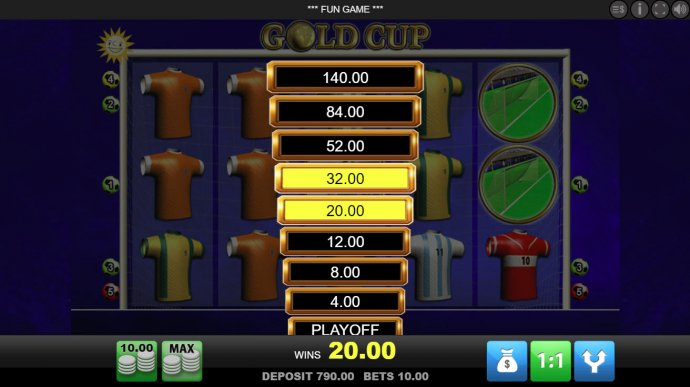 Gold Cup by No Deposit Casino Guide