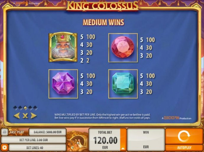 No Deposit Casino Guide image of King Colossus