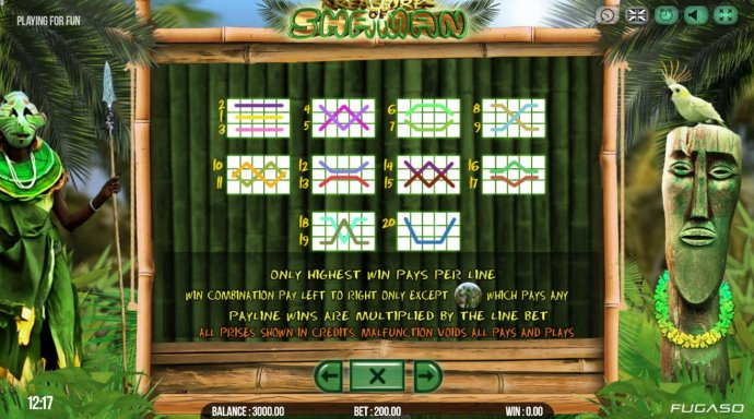 Treasure of Shaman by No Deposit Casino Guide