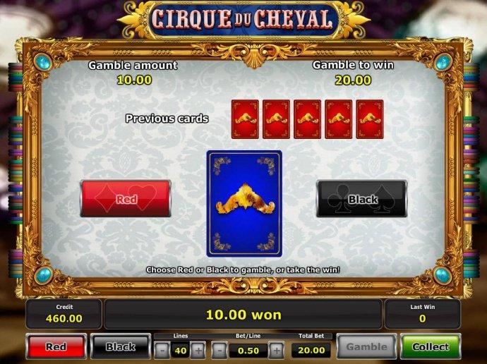 No Deposit Casino Guide image of Cirque du Cheval
