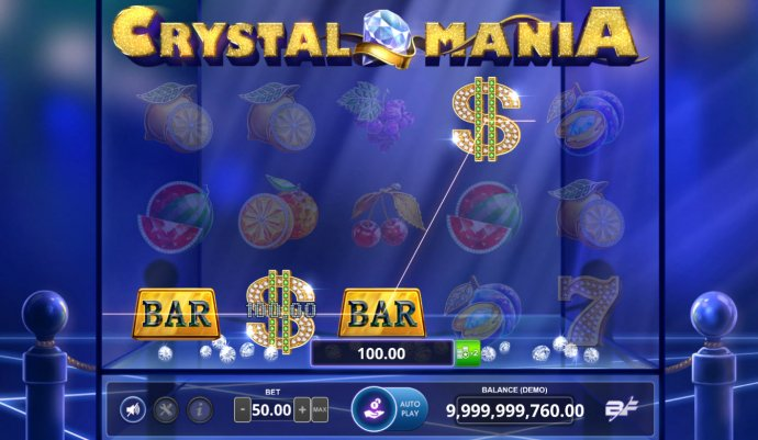 Crystal Mania by No Deposit Casino Guide