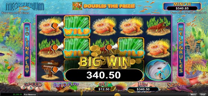 No Deposit Casino Guide - Multiple winning paylines triggers a 340.50 big win!