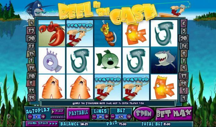 Reel in the Cash 20 line by No Deposit Casino Guide