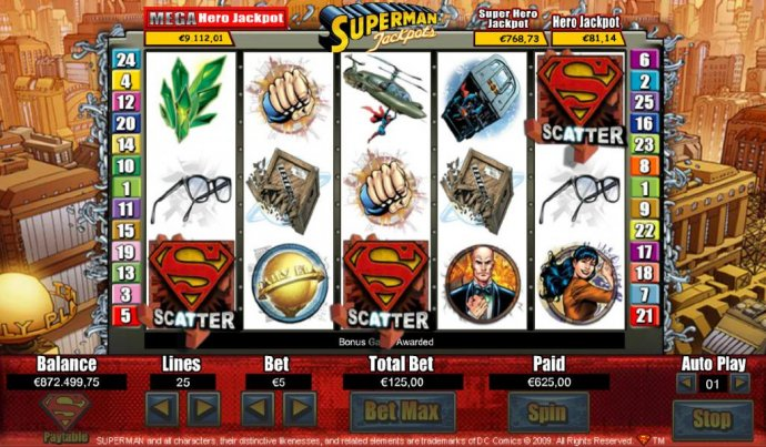 Superman Jackpots by No Deposit Casino Guide