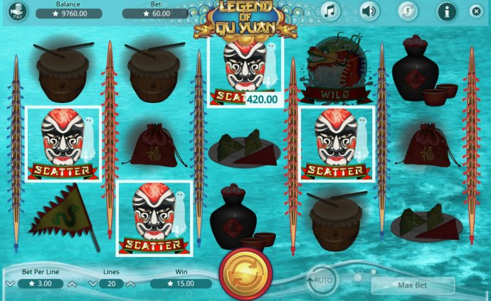Scatters trigger bonus feature by No Deposit Casino Guide