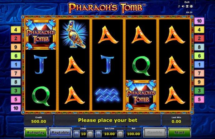No Deposit Casino Guide image of Pharaoh's Tomb