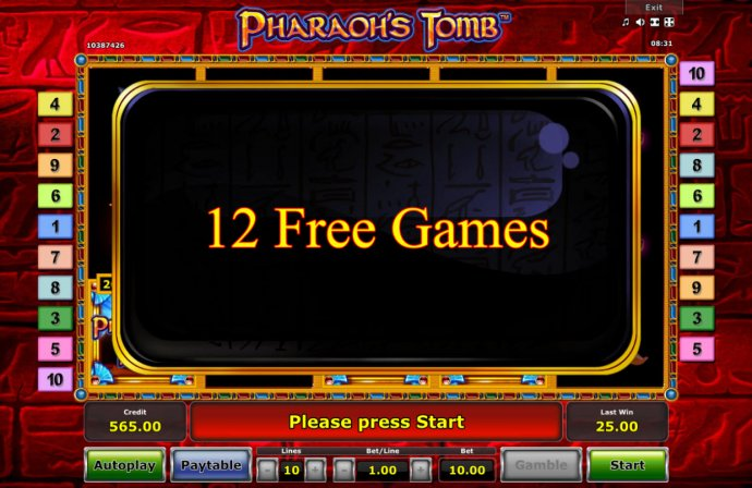 No Deposit Casino Guide - 12 Free Games Awarded