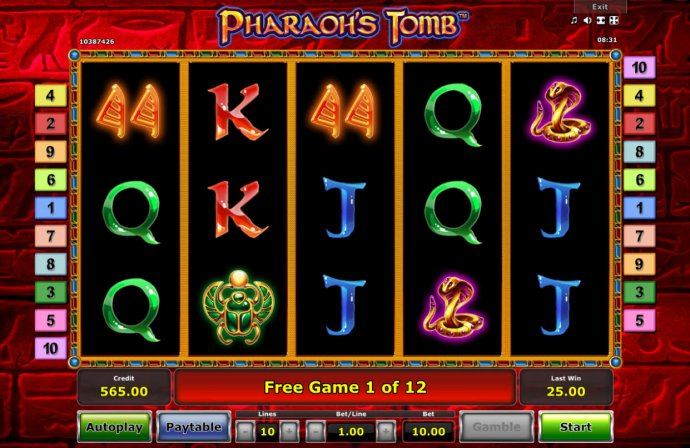 Pharaoh's Tomb by No Deposit Casino Guide