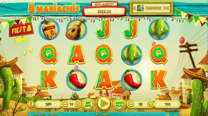 No Deposit Casino Guide image of 5 Mariachis